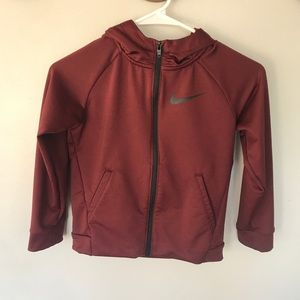 Nike Dri fit zip up hoodie boys size 7